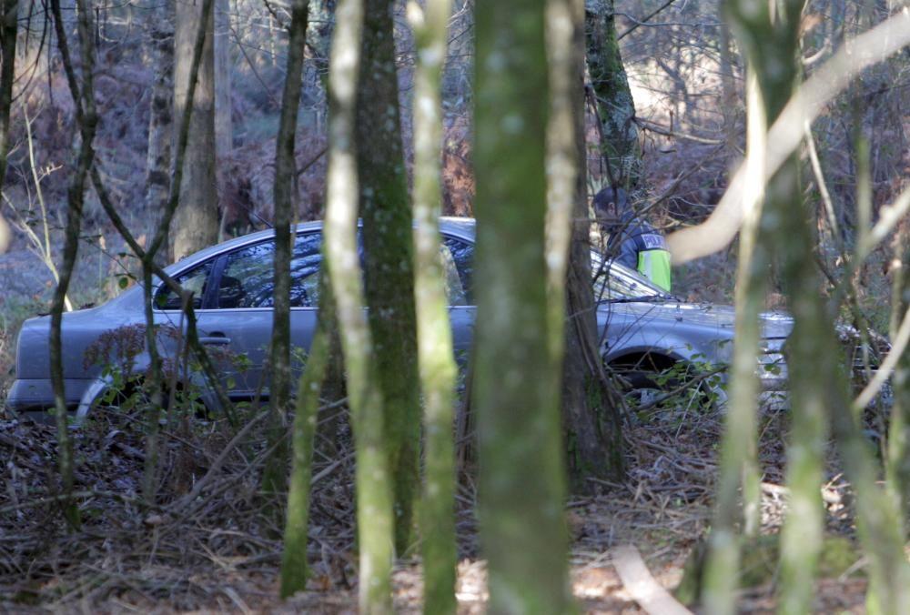 Hallan en un monte de Boqueixón el cuerpo del presunto asesino de la joven apuñalada en Santiago