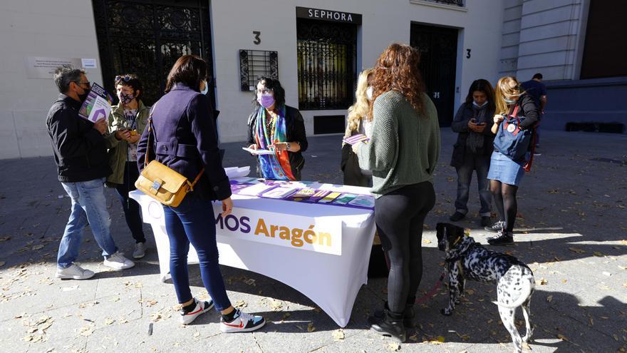 Podemos se reencuentra con su militancia en Aragón para reivindicar su acción en el ejecutivo