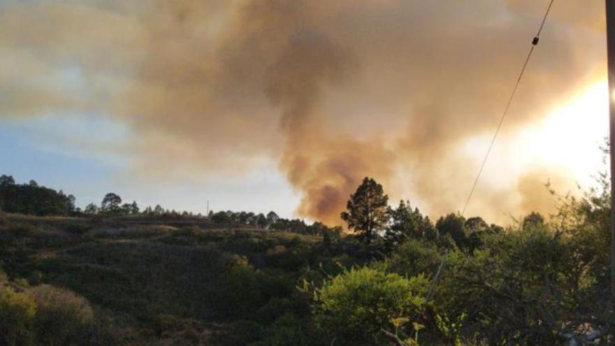 Un incendio en La Palma obliga a evacuar varias viviendas