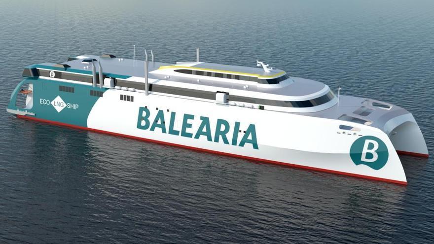 Baleària contrata con Armón Gijón un ferry rápido de 125 metros por 90 millones de euros