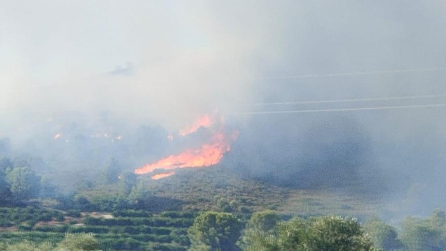 Incendio en Rafelguaraf