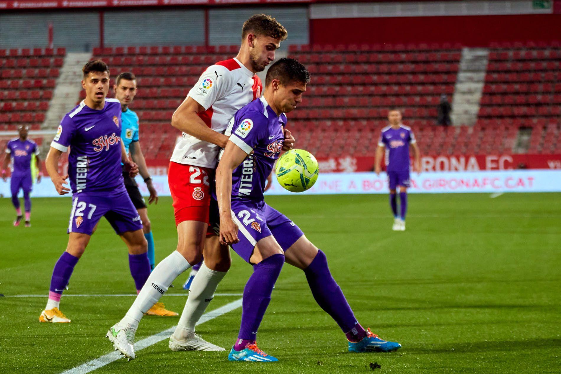 El Sporting-Girona, en imágenes