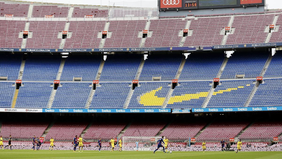 Imagen del Camp Nou vacío.