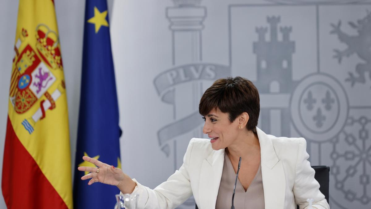 La nueva portavoz del Ejecutivo, Isabel Rodríguez.