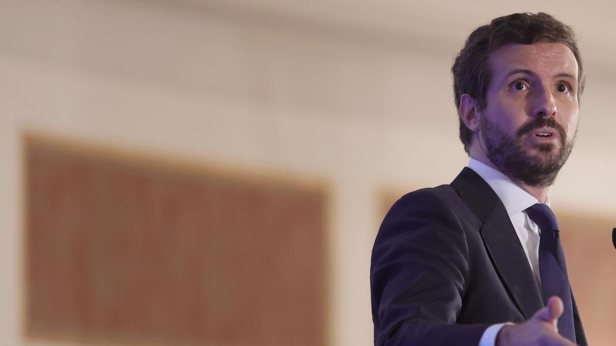 El presidente del Partido Popular, Pablo Casado.