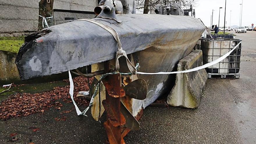 ¿Dónde está la hélice desaparecida del narcosubmarino de Aldán?