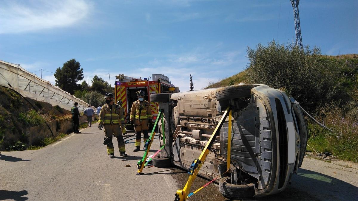 El coche, tras el accidente.