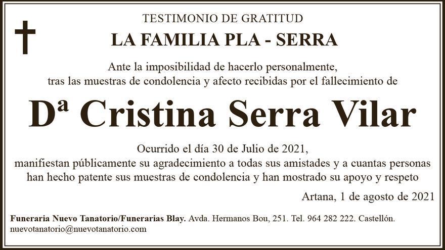 Dª Cristina Serra Vilar
