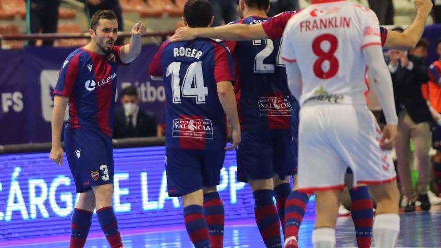 Partido de la Liga Nacional de futbol sala entre el Levante UD FS y el Jiimbee Cartagena