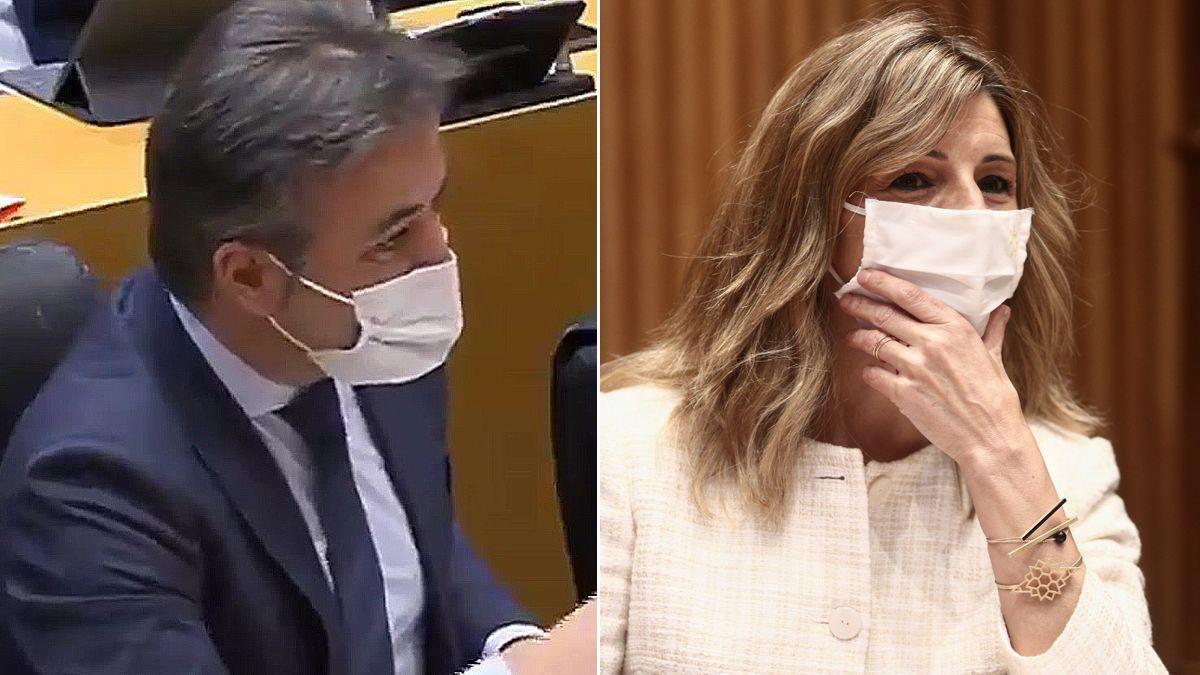 """Un diputado del PP a Yolanda Díaz: """"Las mujeres de Podemos solo suben si se agarran a una coleta"""""""