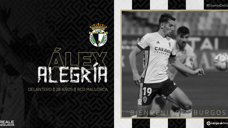 El Real Mallorca cede a Álex Alegría al Burgos