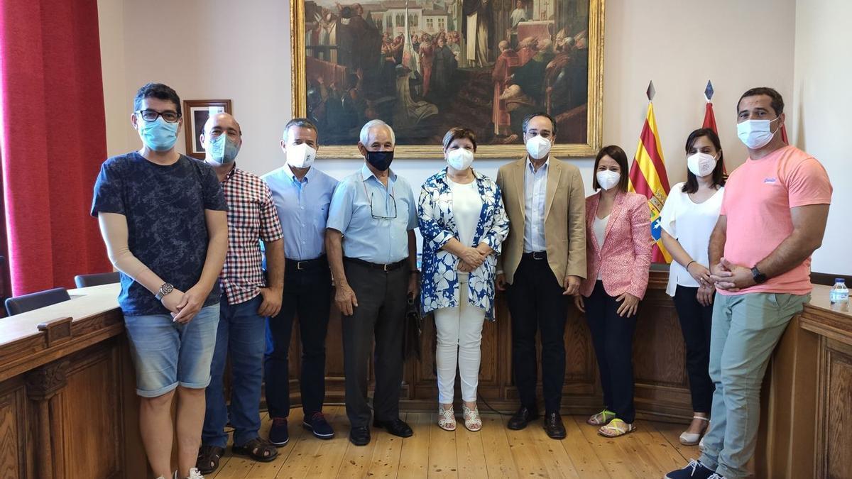Reunión entre el Ayuntamiento de Caspe y Endesa.