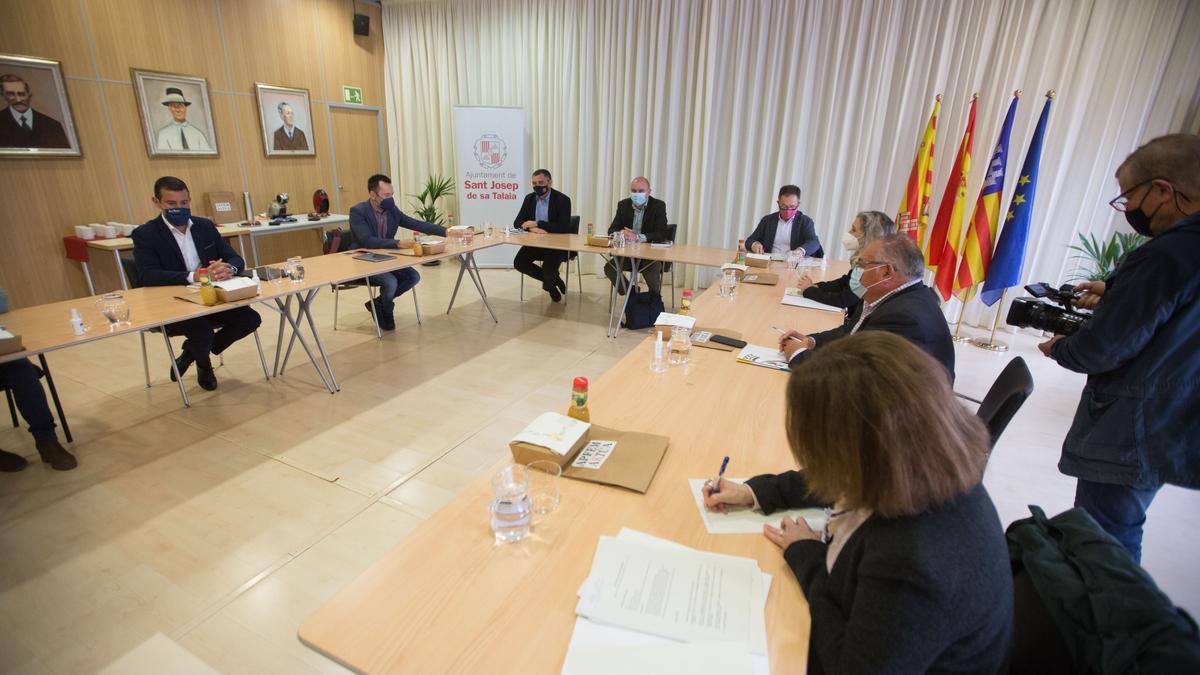 Consell de Alcaldes celebrado en Sant Josep