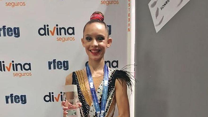 Ariadna Jiménez, campeona de España de gimnasia