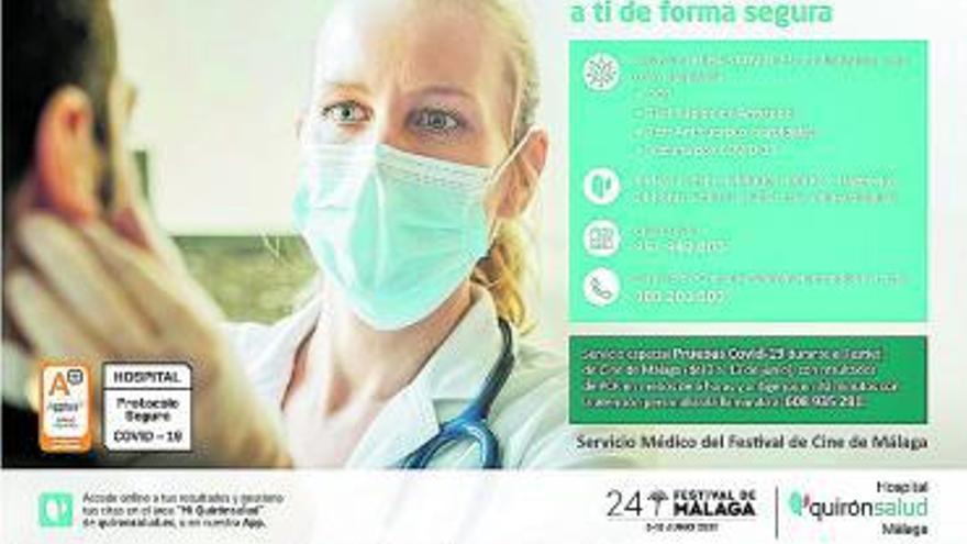 Quirónsalud Málaga, servicio médico del Festival de Cine