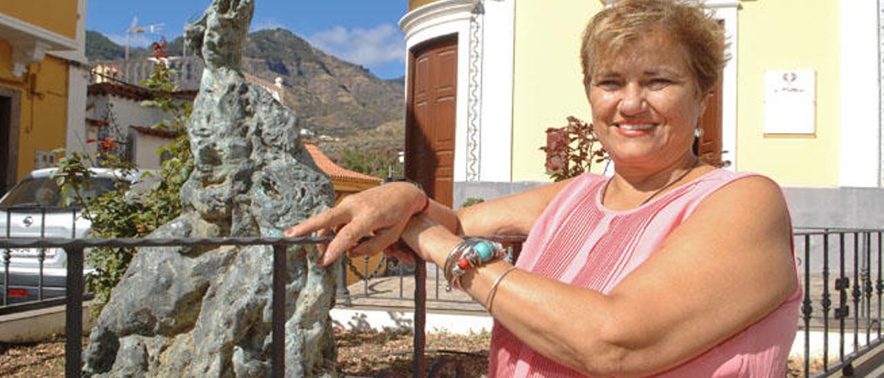 Mari Monzón, en Valsequillo.