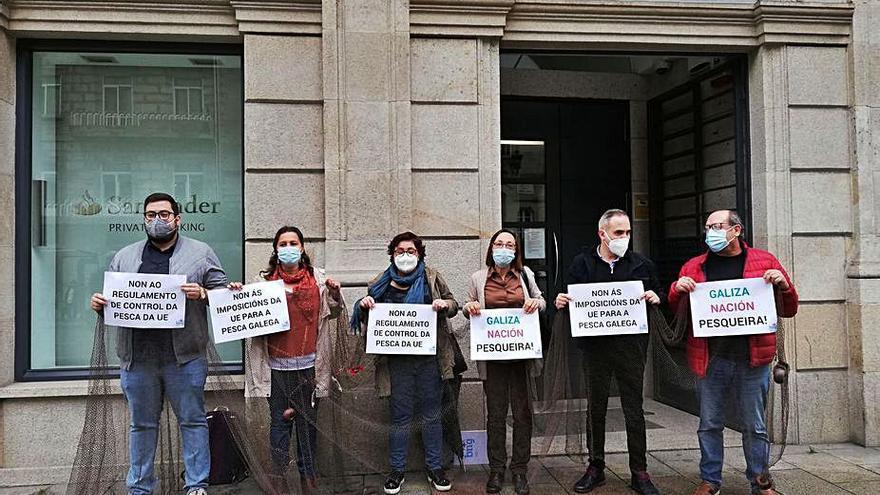 El BNG, en Vigo contra el reglamento de control
