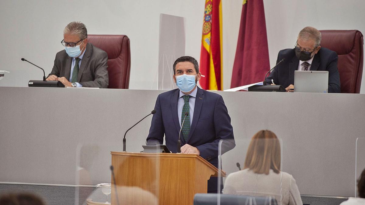 Antonio Luengo en su intervención en el Pleno de ayer.  iván urquízar