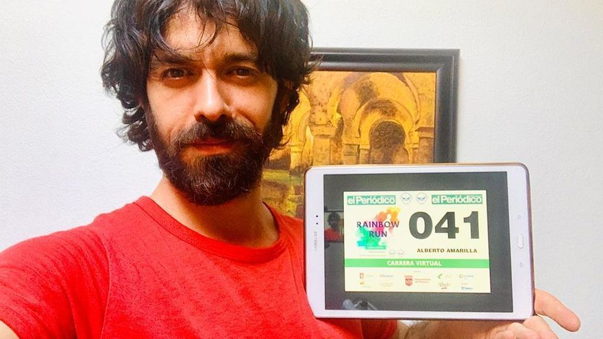 Alberto Amarilla se une a la Rainbow Run de El Periódico Extremadura