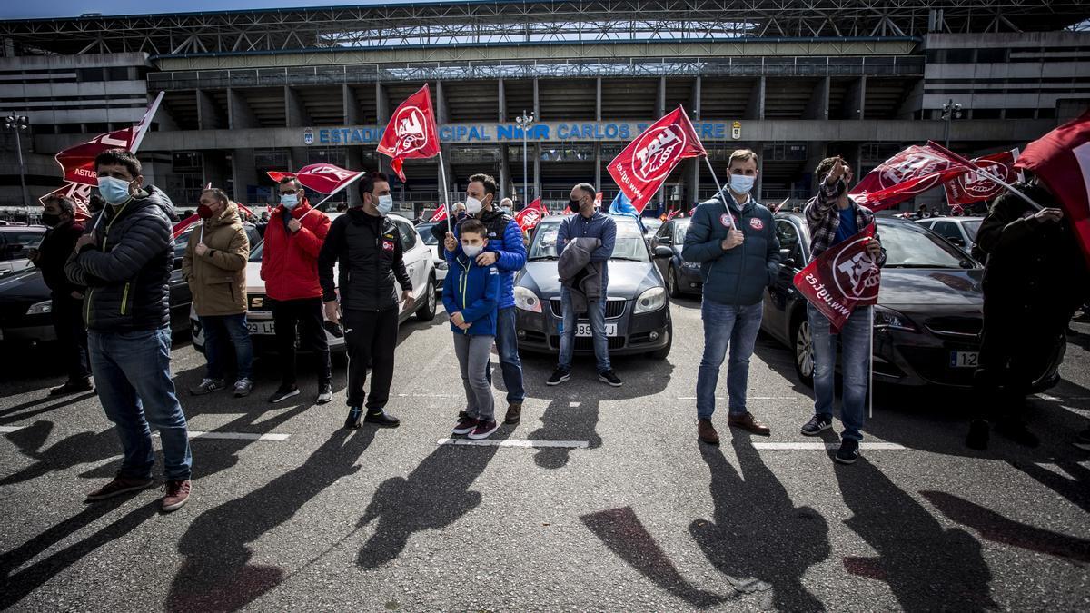 Manifestación en defensa de la industria en Oviedo.