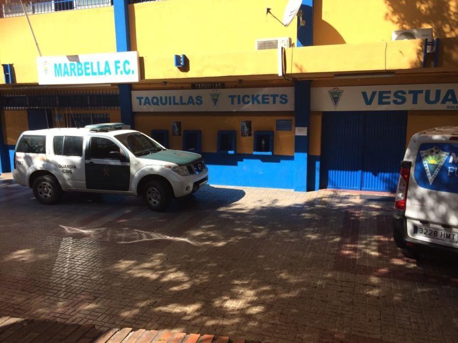 La Guardia Civil ha detenido este martes al presidente del Marbella FC, Alexander Grinberg, de nacionalidad rusa, y a otras diez personas relacionadas con organizaciones criminales de este país que ya fueron desarticuladas en otro operativo de hace cuatro años
