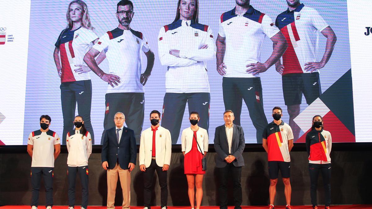 Presentación de la ropa Joma del equipo olímpico español