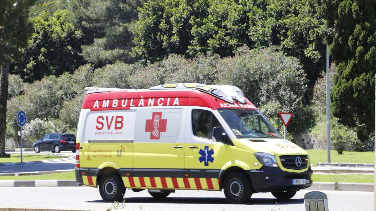 Una ambulancia durante un servicio.
