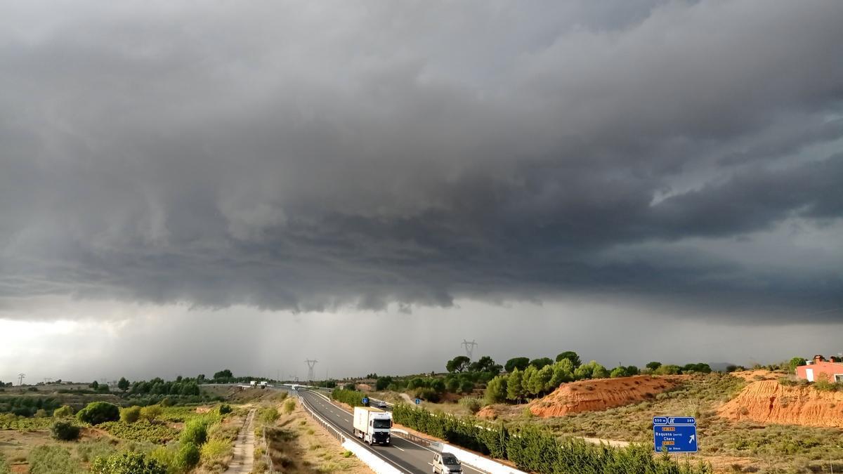 Tormentas en la comarca de Requena-UTiel ayer