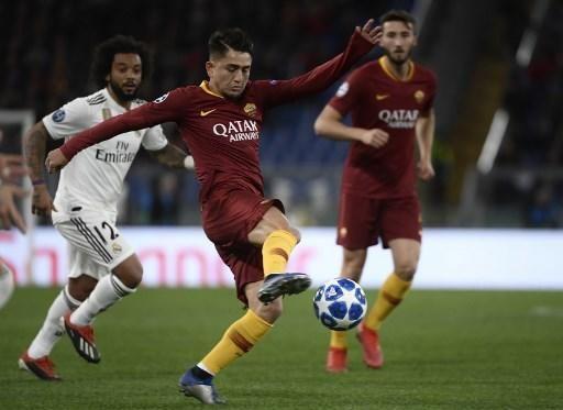Imágenes del partido entre la Roma y el Real Madrid