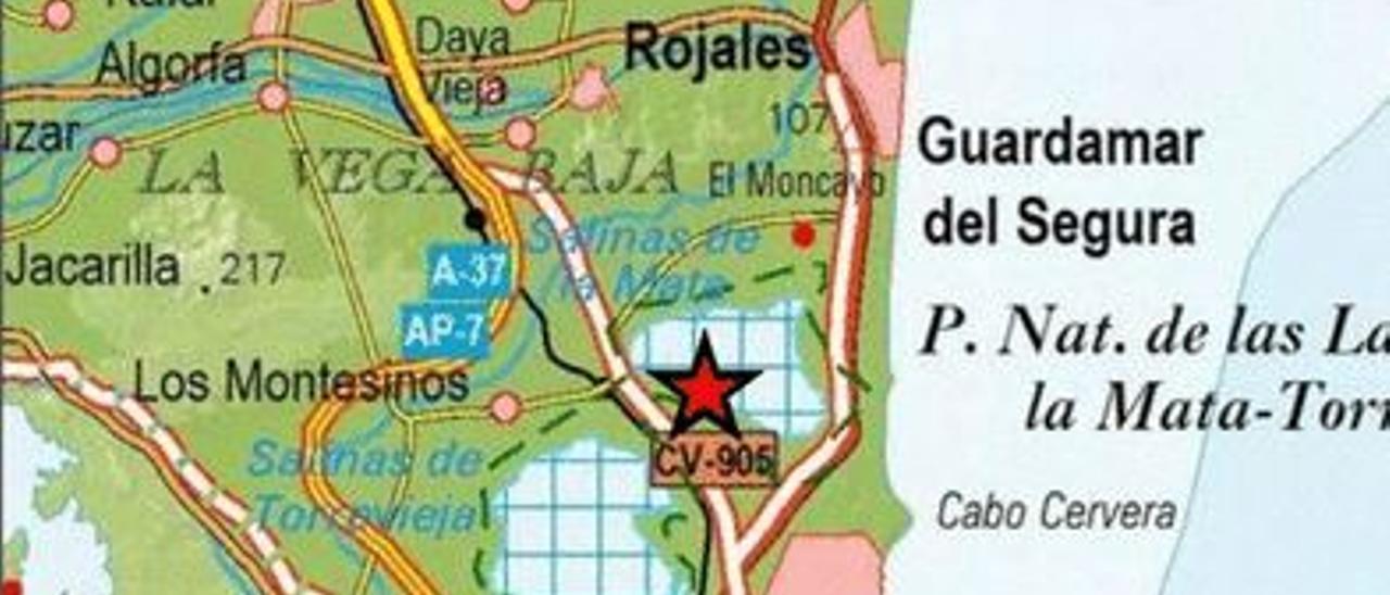Imagen de la información sísmica del Instituto Geográfico Nacional