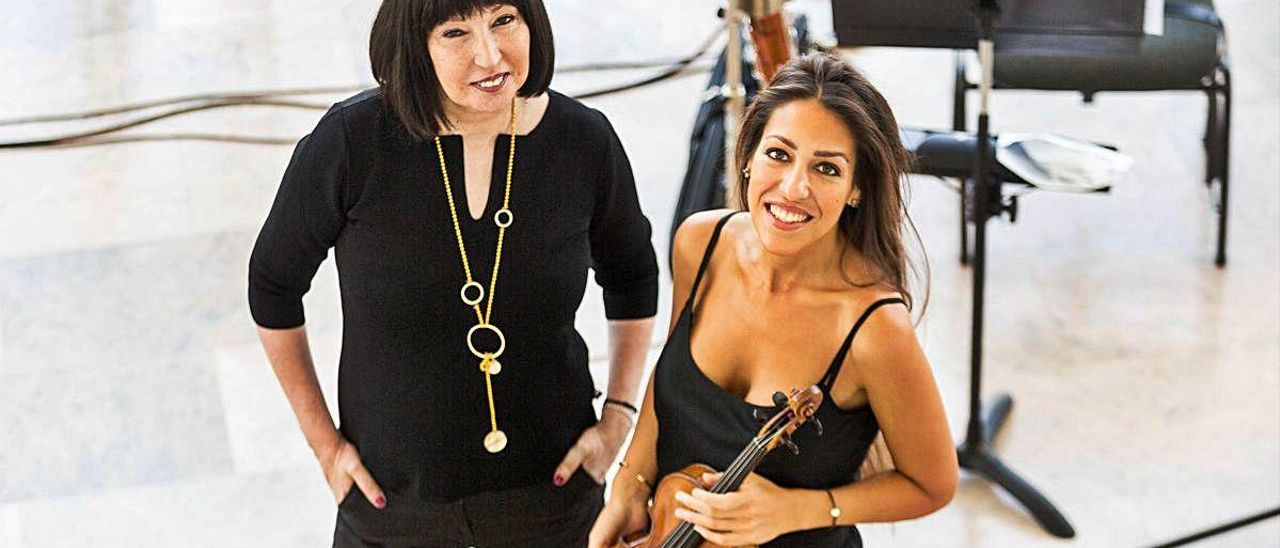Claudia Montero y Leticia Moreno, esta semana en el vestíbulo del Palau de la Música
