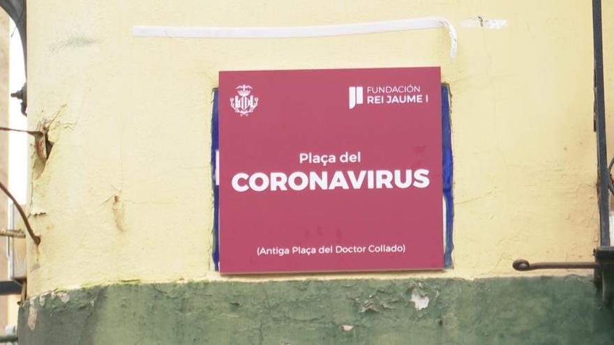 La plaza del Doctor Collado pasa a llamarse plaza del Coronavirus