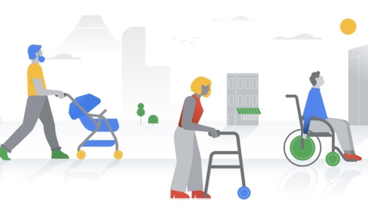Información en Google Maps sobre accesiblidad en silla de ruedas.