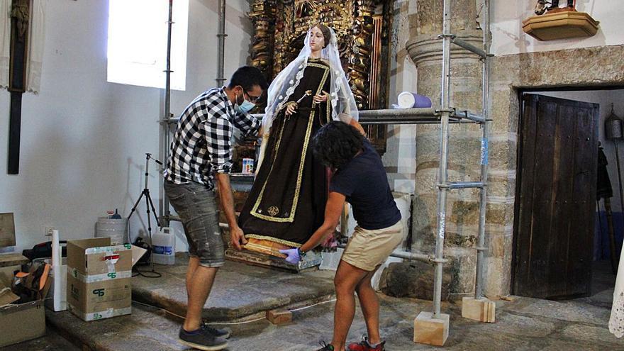 Valparaíso restaura el altar de la Virgen del Carmen