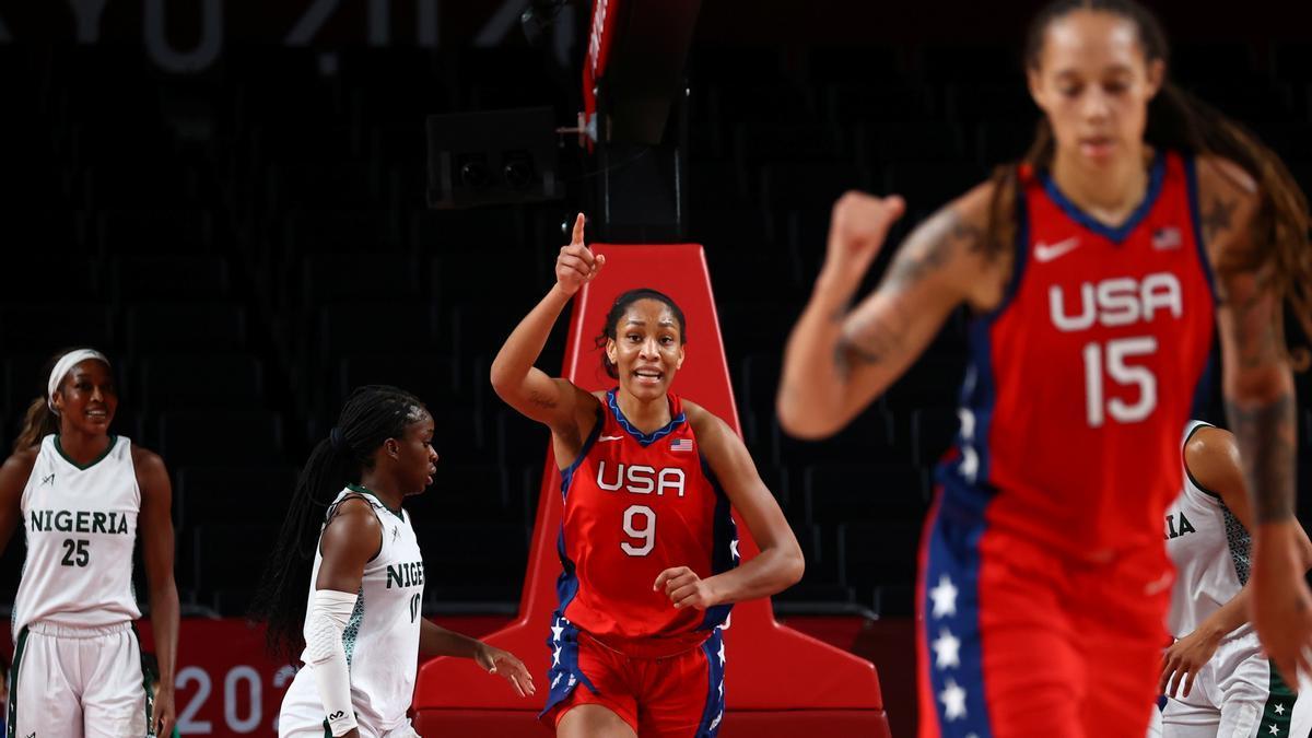 El 'Team USA' femenino vence a Nigeria (71-82)