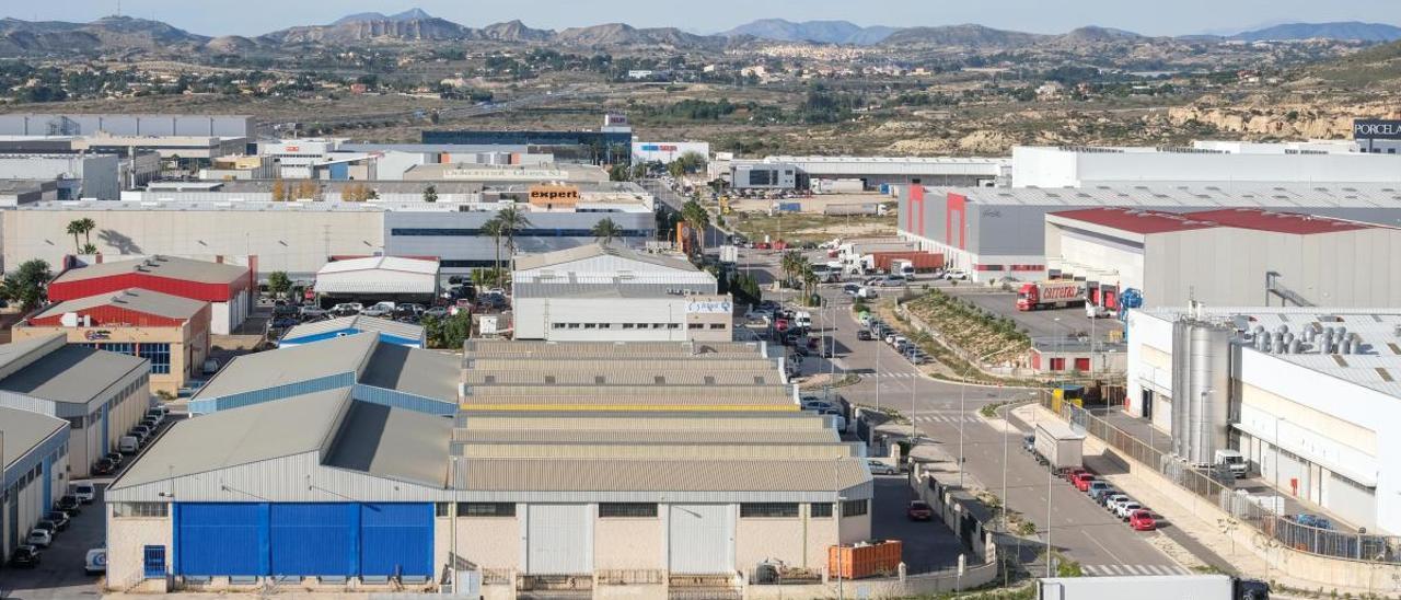 Imagen de archivo de un polìgono  industrial
