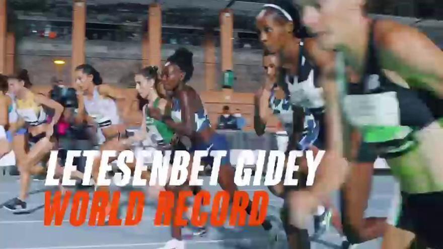 Gidey pulveriza el récord del mundo de 5.000 m. en València