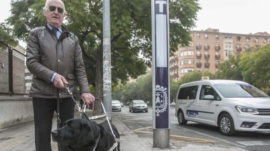 Un invidente denuncia que taxistas se niegan a llevarle por ir con un perro guía