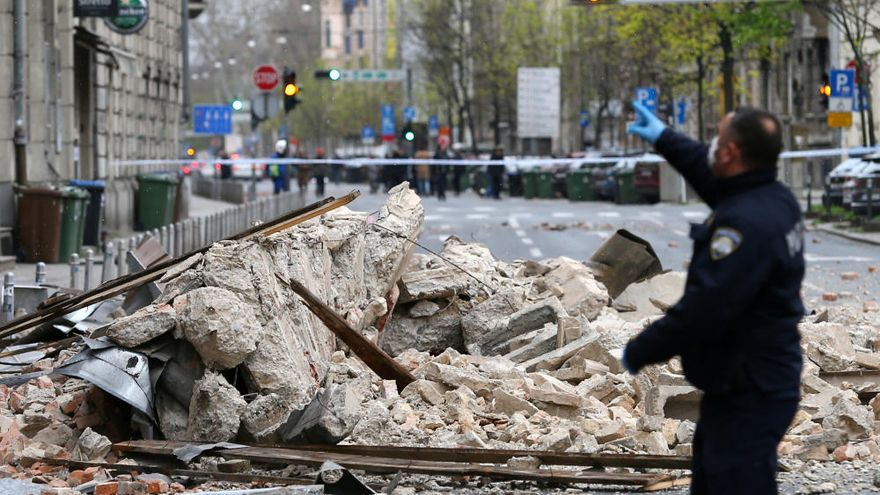 Una cadena de terremotos causa importantes daños en Croacia