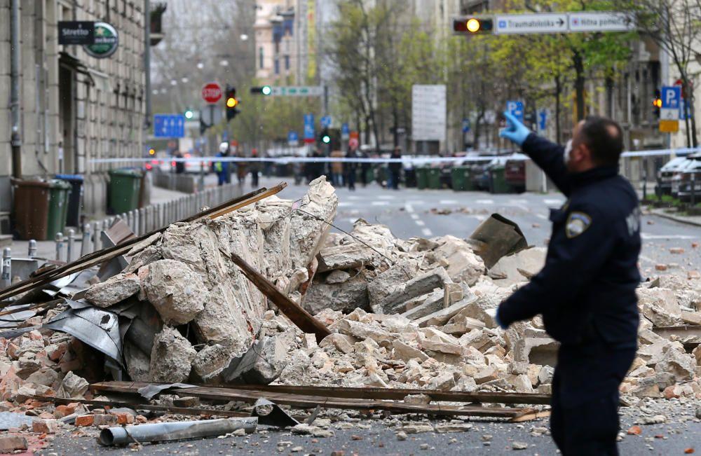 Una cadena de terremotos sacude Zagreb.