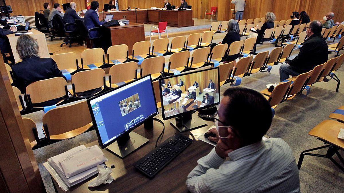 Jornada del juicio por la titularidad delpazo de Meirás
