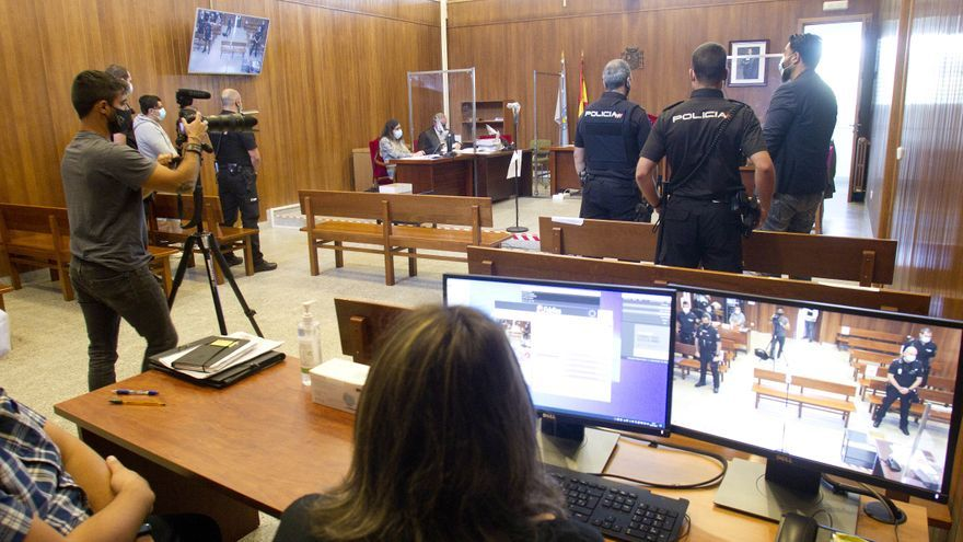 Expulsado del juicio el acusado de un tiroteo en una pedida de mano de O Porriño