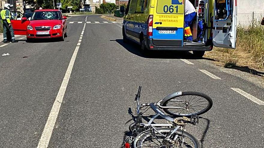 Atropellada una ciclista de 78 años en Xinzo