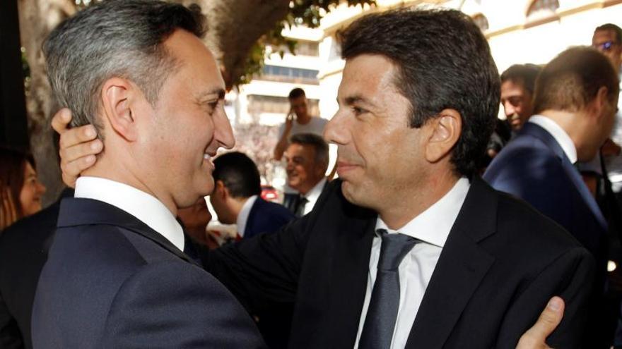 Carlos Mazón niega tres veces a César Sánchez en la Diputación