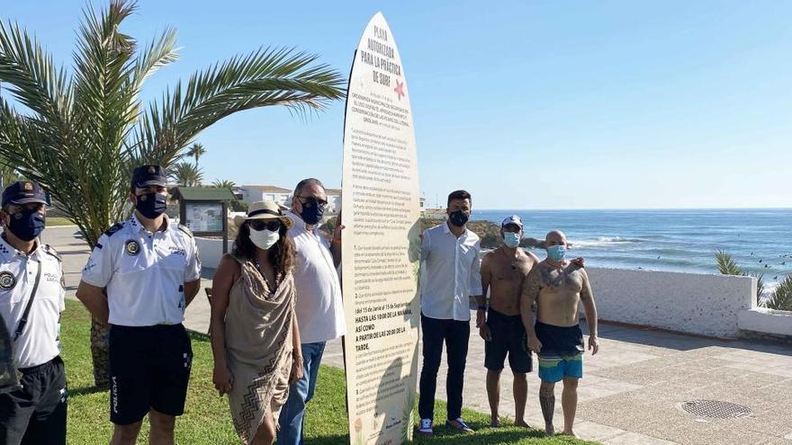 Orihuela autoriza el uso restringido de Cala Cerrada para la práctica del surf