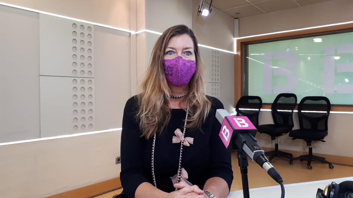 Patricia Gómez, esta mañana en los estudios de IB3 Radio