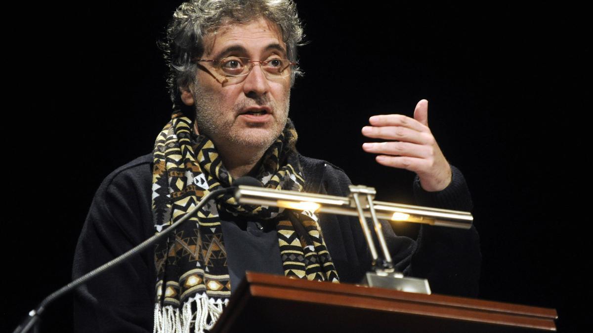 O actor e escritor Lino Braxe nunha imaxe de 2014
