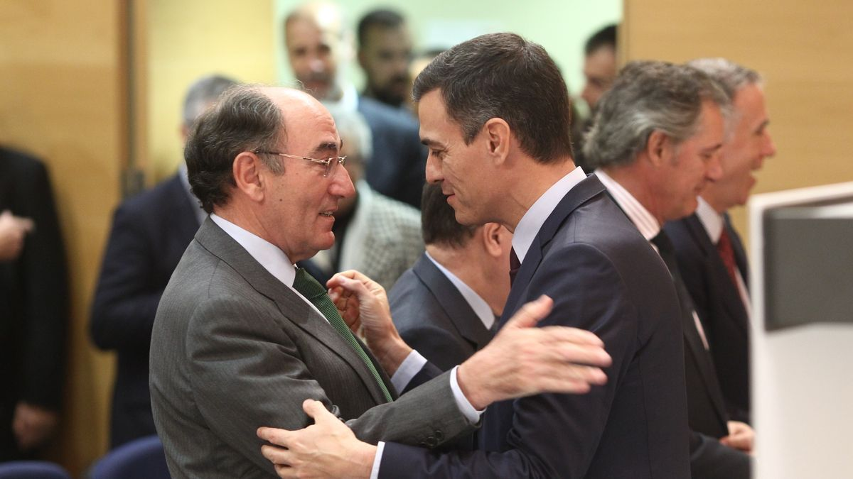 Pedro Sánchez junto a José Ignacio Sánchez Galán, presidente de Iberdrola.
