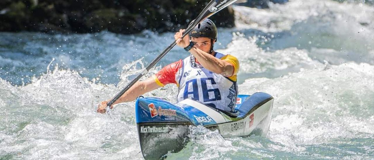 Fidalgo, en la Copa del Mundo de descenso en aguas bravas.