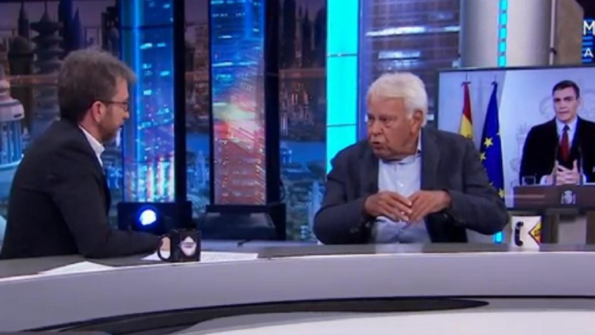 Felipe González, en el programa de 'El hormiguero al que acudió.